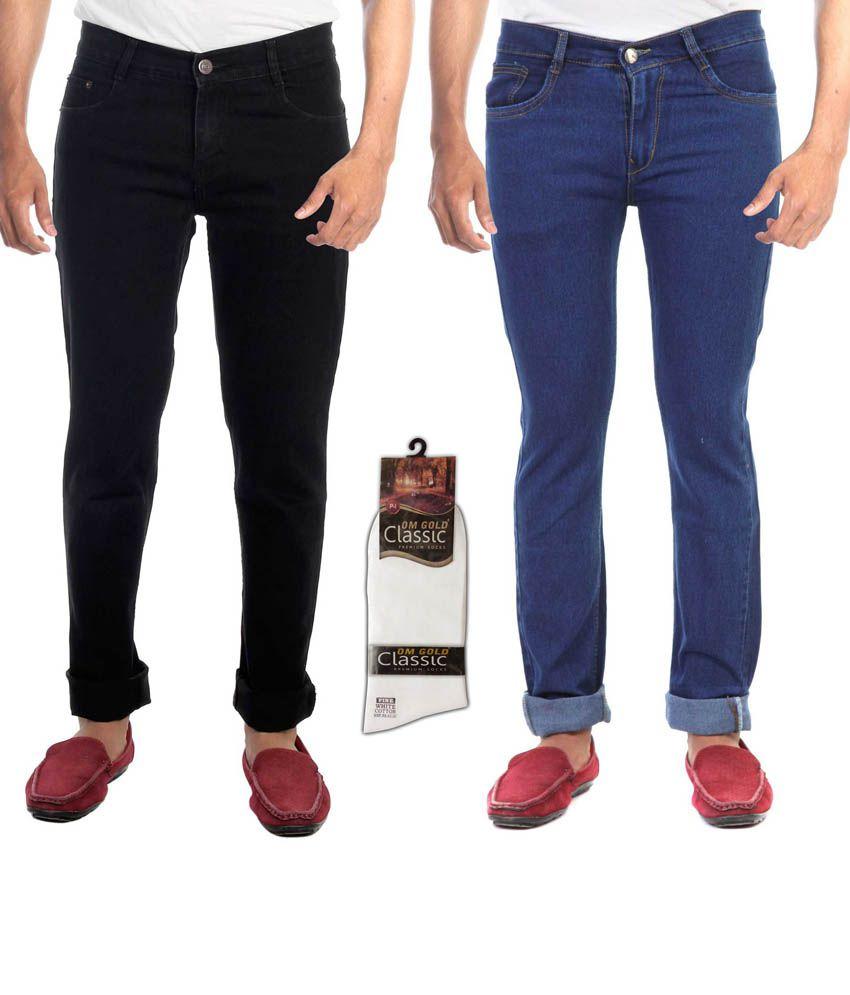 Haltung Multicolor Regular Fit Jeans Set Of 2