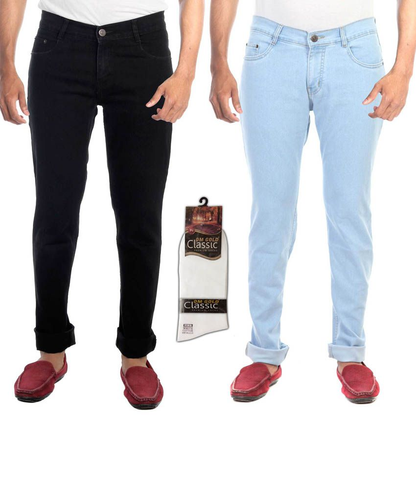 Haltung Multicolor Regular Fit Jeans Set Of 2