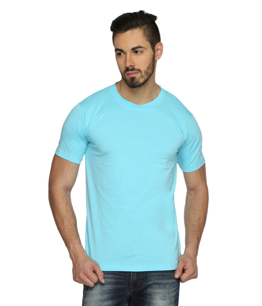 Youthen Blue Cotton T-Shirt