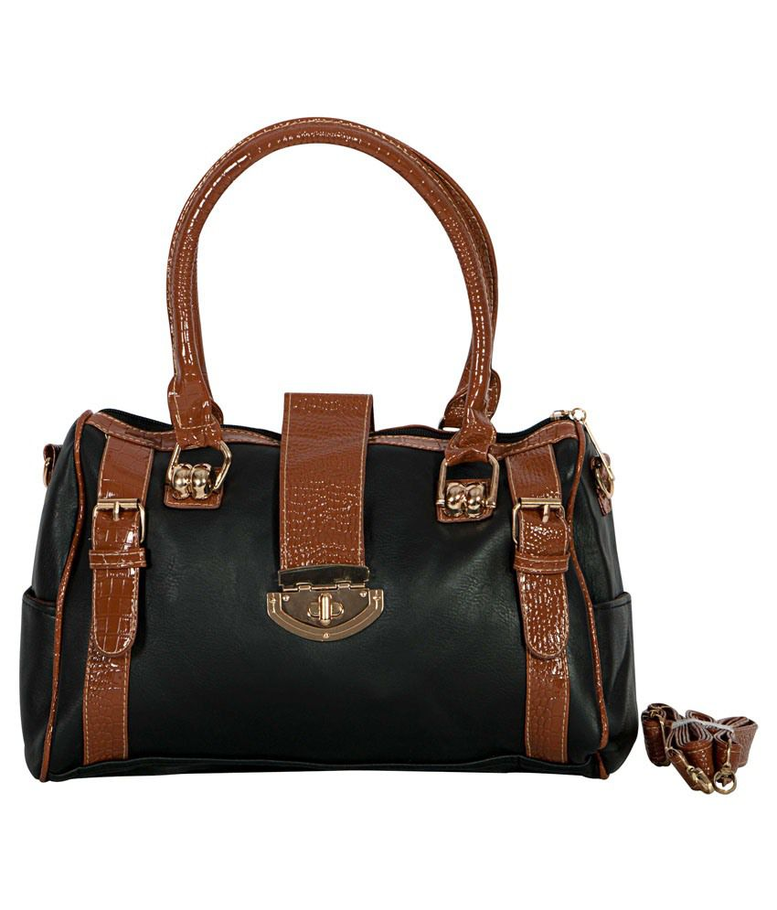 Albeni Fashions Satchel Bag-Black & Brown