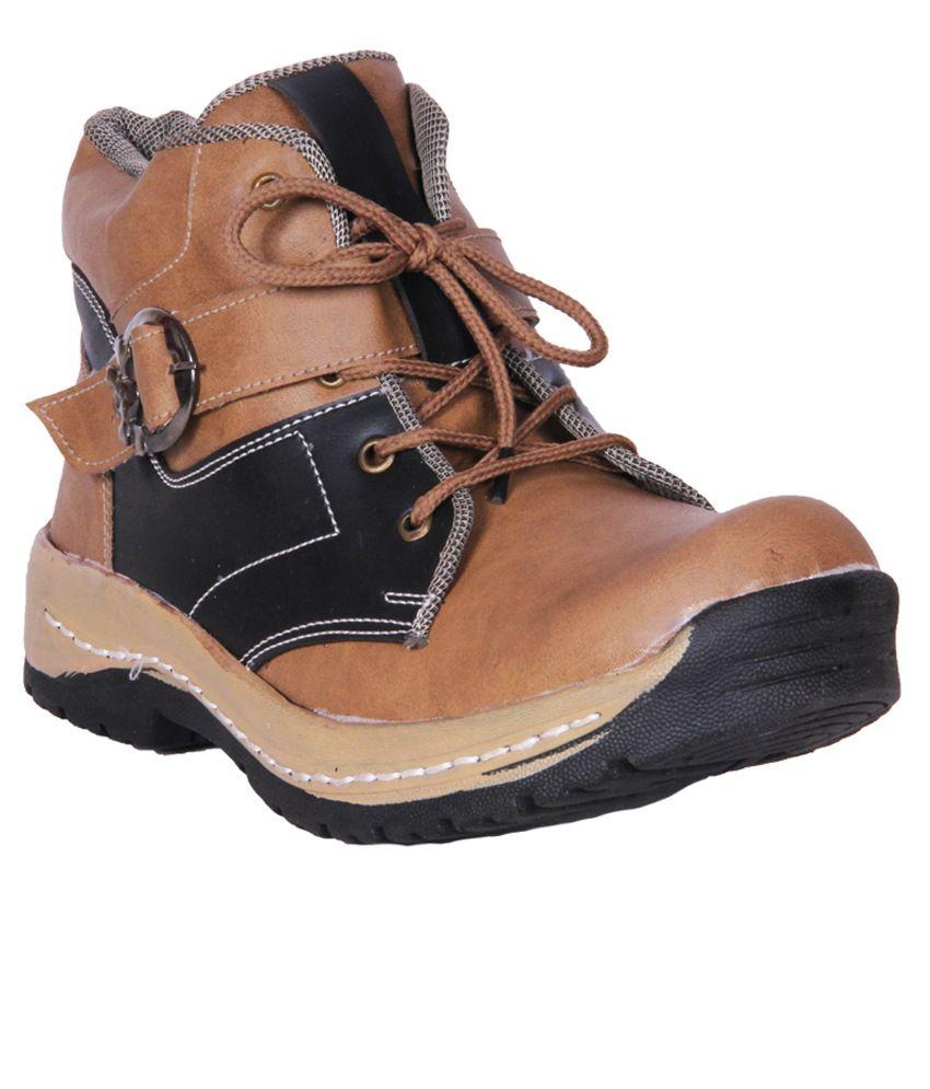 Austrich Brown Lace Boots