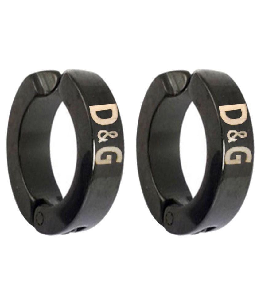 Men Style Black D G Inspired Clip On Earring