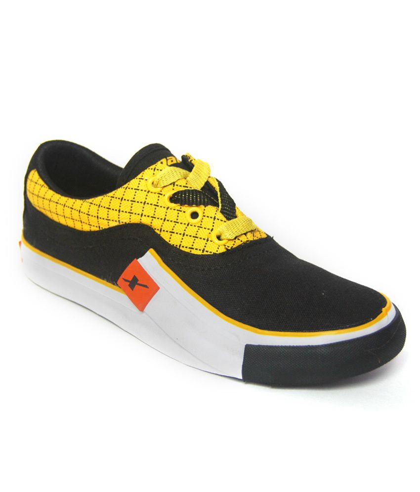 sparx black lifestyle canvas shoes available at