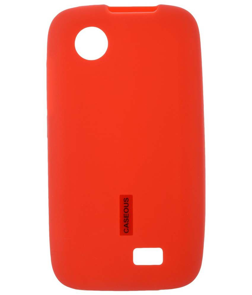free shipping 12c8b 0eb48 Caseous Back Cover For Lenovo A369i - Red