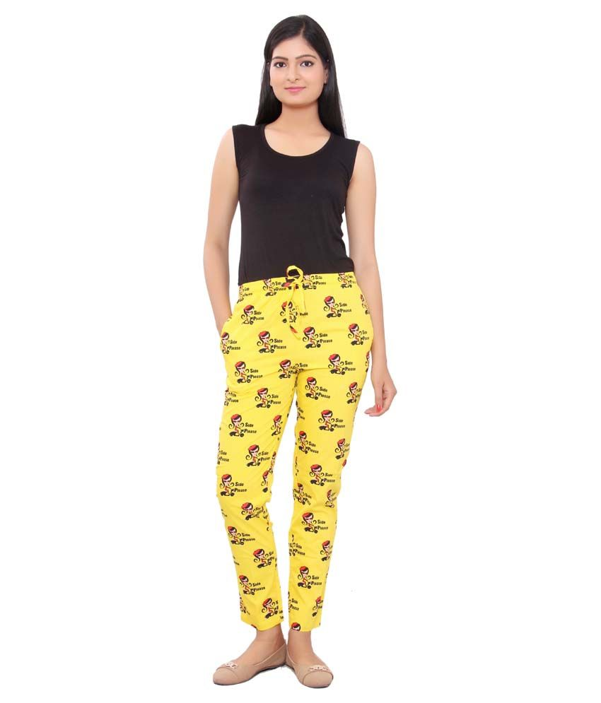 676732a915ff Buy Flamboyant Multicolor Cotton Printed Women s Pajamas Online at Best  Prices in India - Snapdeal