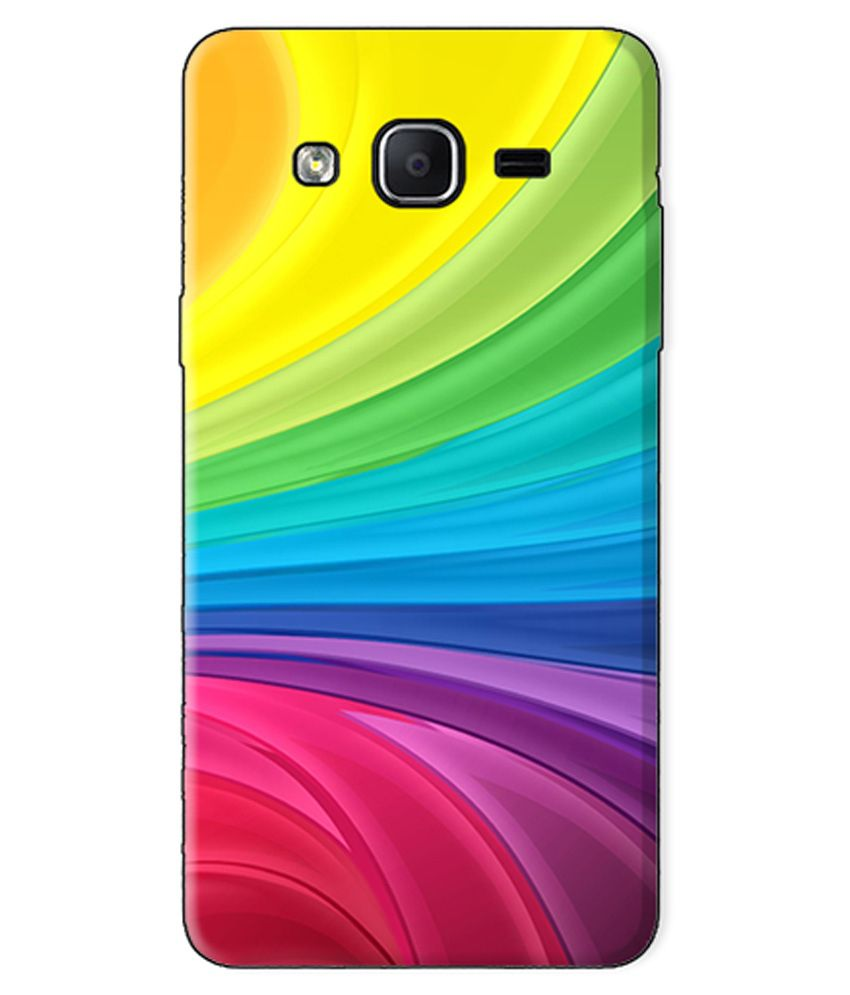Kartuce Printed Back Cover for Samsung Galaxy On7 - Multicolour