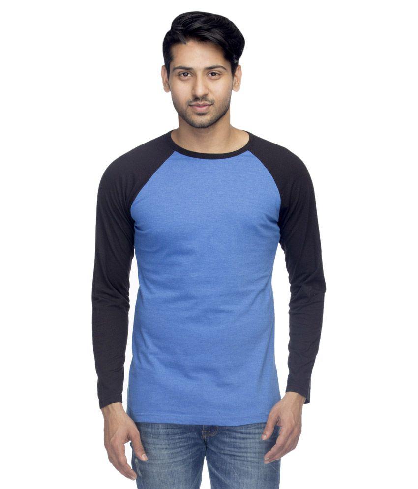 Fabfelle Blue Polyester T-Shirt