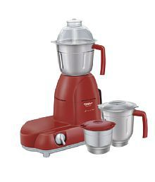Maharaja Whiteline MX 101 Mixer Grinder Red & Silver