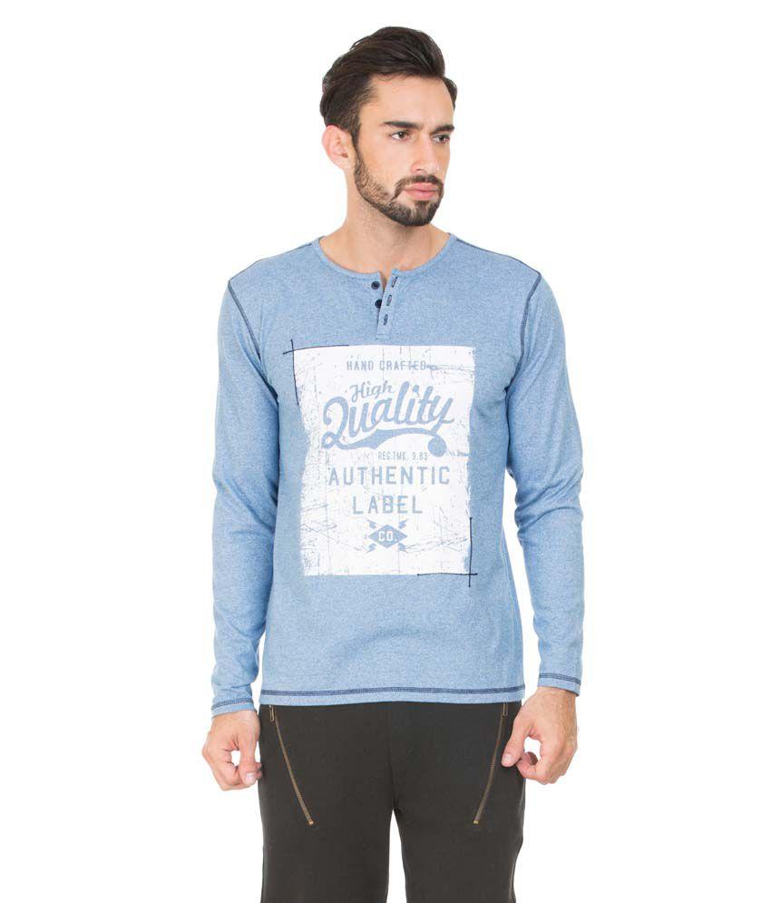 Antigravity Blue Cotton T-shirt