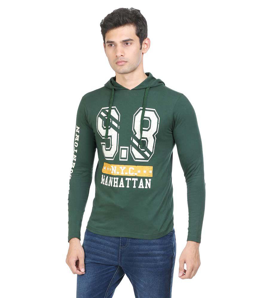 Antigravity Green Cotton T-shirt