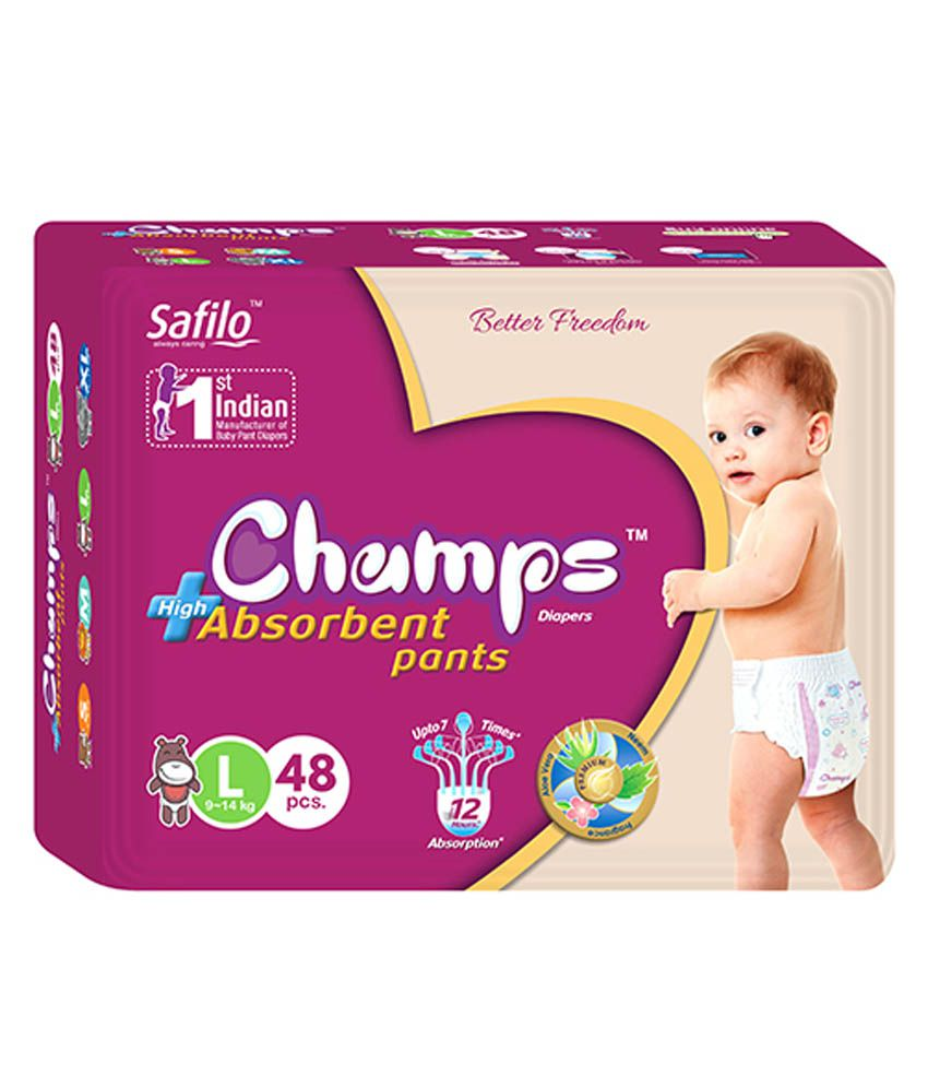 Champs High Absorbent Style Pant Diaper Large (48 Pieces)