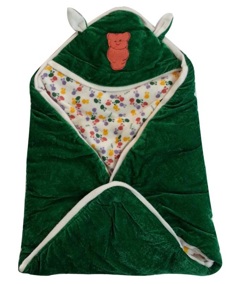 Cute Baby Green Cotton Baby Wrap