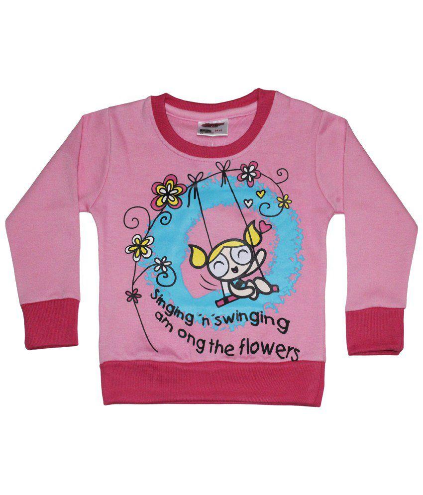 Power Puff Girls Pink & Blue Full Sleeve Sweatshirt