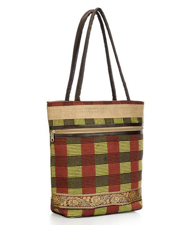 Saffron Craft Brown Shoulder Bag