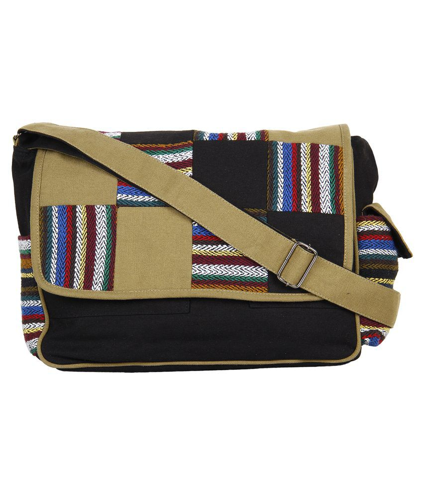 Anekaant Canvas Messenger Bag-multicolour
