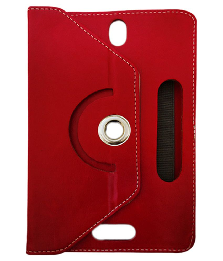 Fastway Flip Cover with Stand for Zync Z18 2G Calling - Red