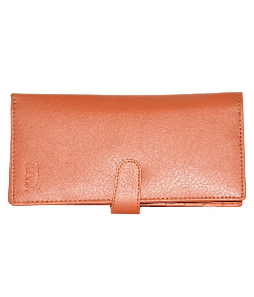 Modish Design Tan Leather Multi Slot Card Holder for Women