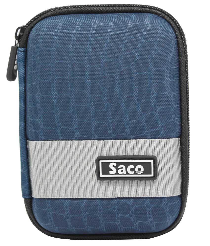 Saco External Hardisk Hard Cover For Seagate Wireless Plus 1 TB External Hard Drive - Dark Blue