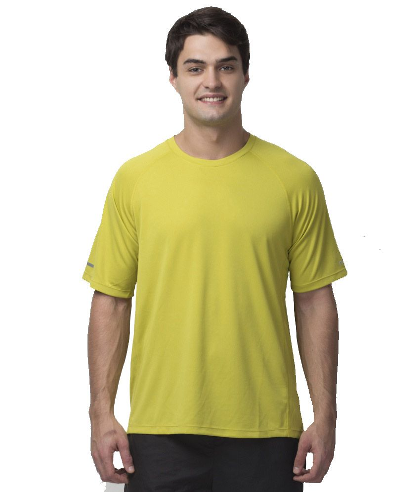 Octive Yellow Polyester T Shirt