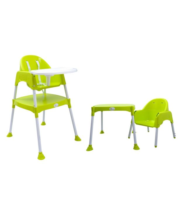 R For Rabbit Green And White ABS Baby High Chair