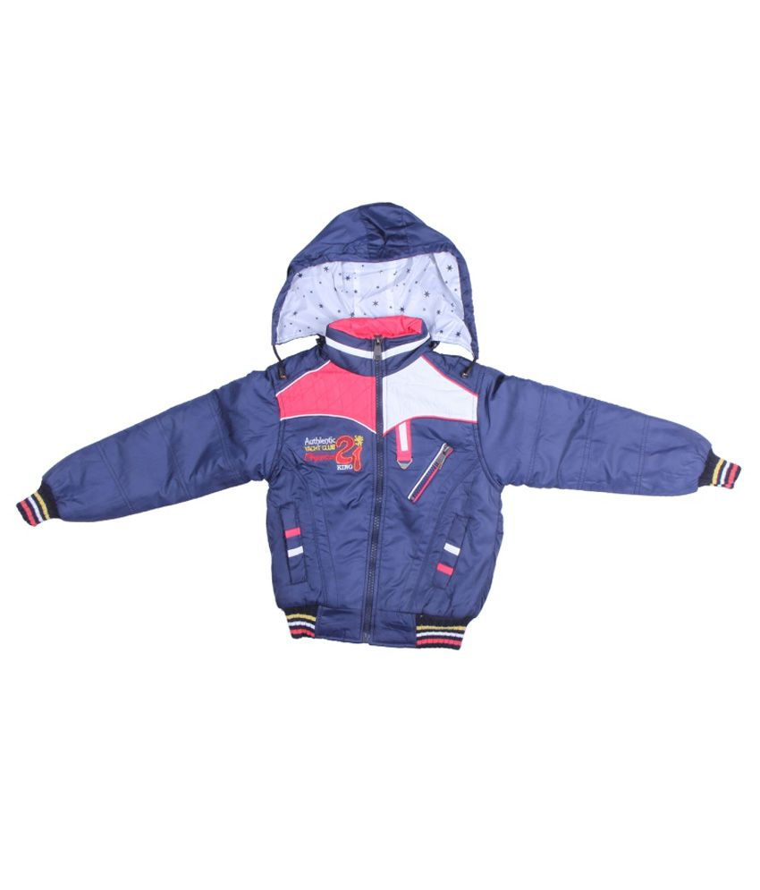 ADI & ADI Blue Padded Jacket With Hood