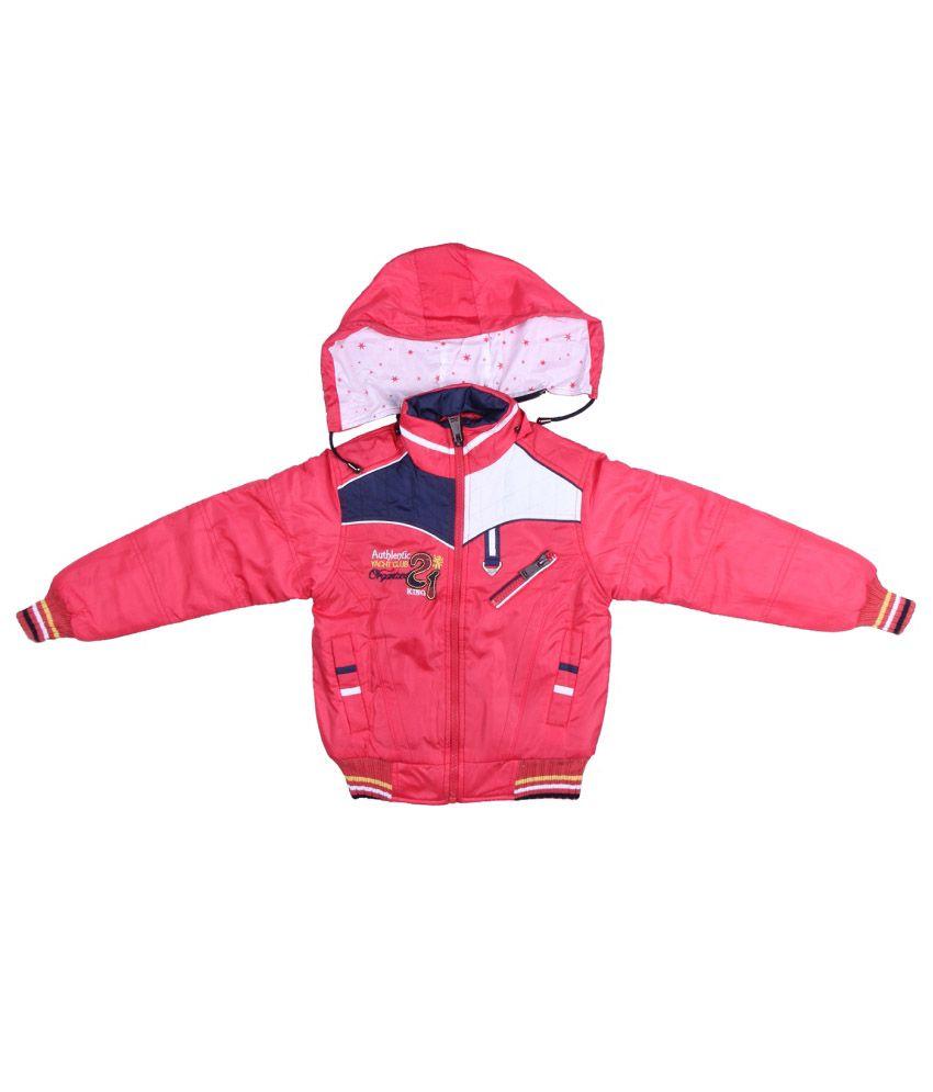 ADI & ADI Pink Padded Jacket With Hood