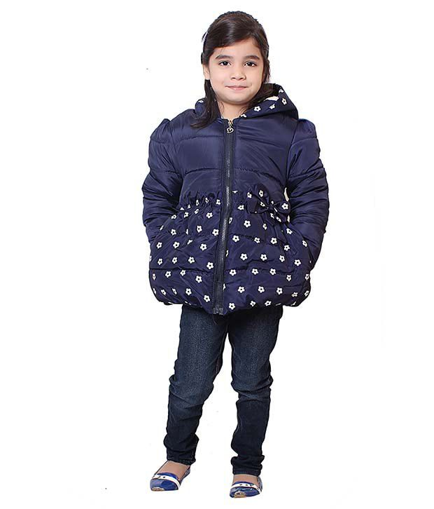Sakhi Sang Navy Full Sleeve Quilted Polyester Jackets