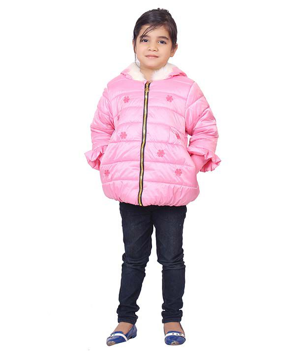Sakhi Sang Pink Full Sleeve Quilted Polyester Jackets