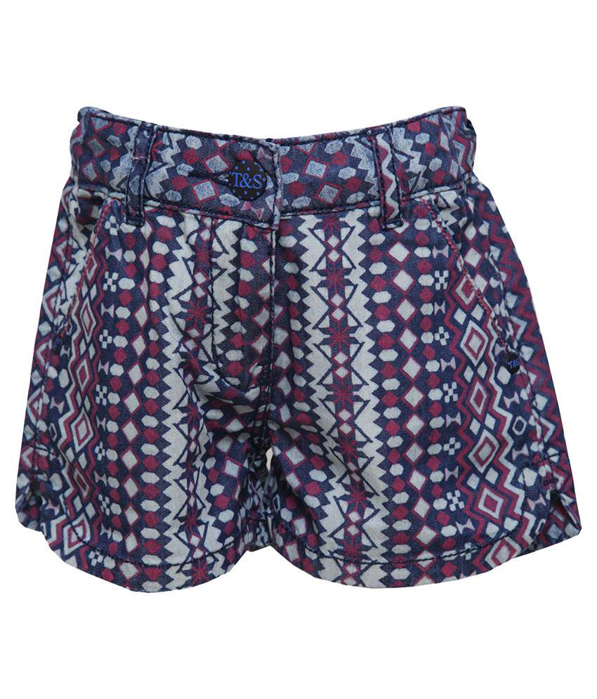 Tales & Stories Multi Shorts For Girls
