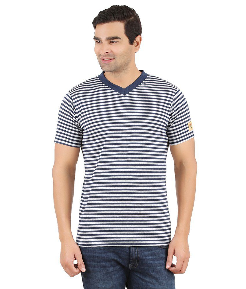Recca Navy Cotton Blend T-Shirt