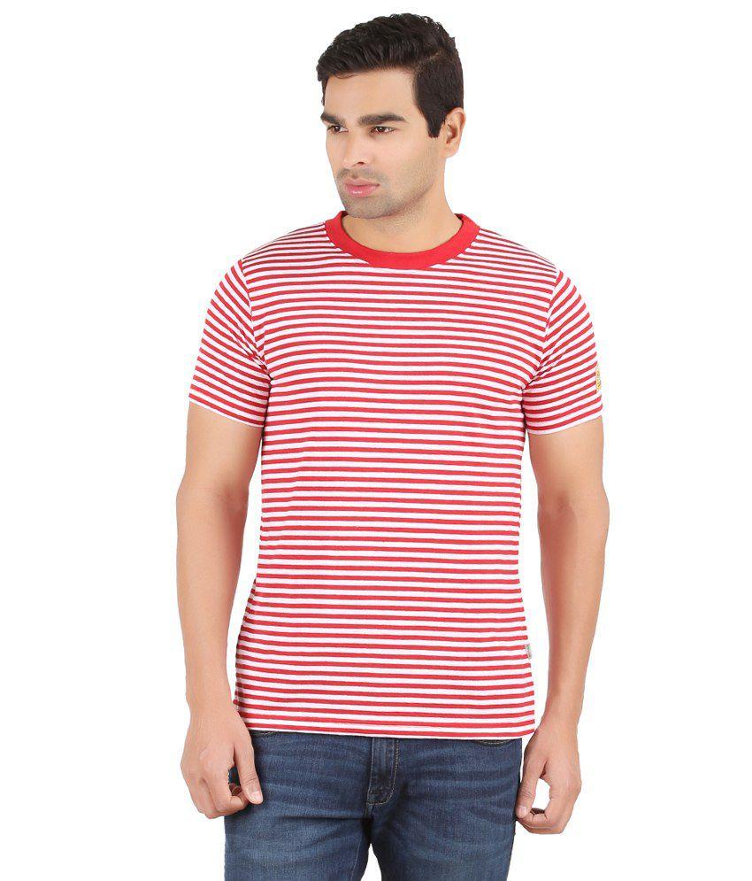 Recca Red Cotton Blend T-Shirt