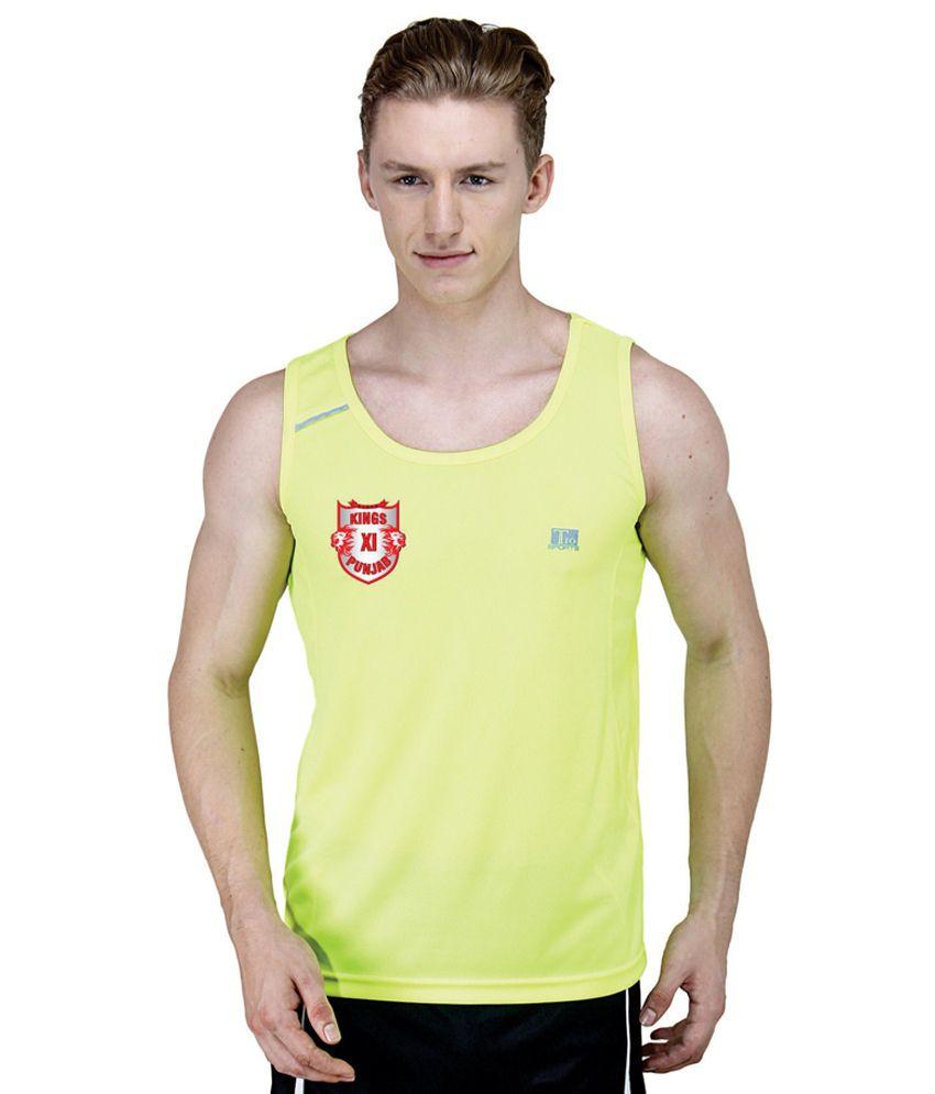 T10 Sports KXIP IPL Neon T-shirt