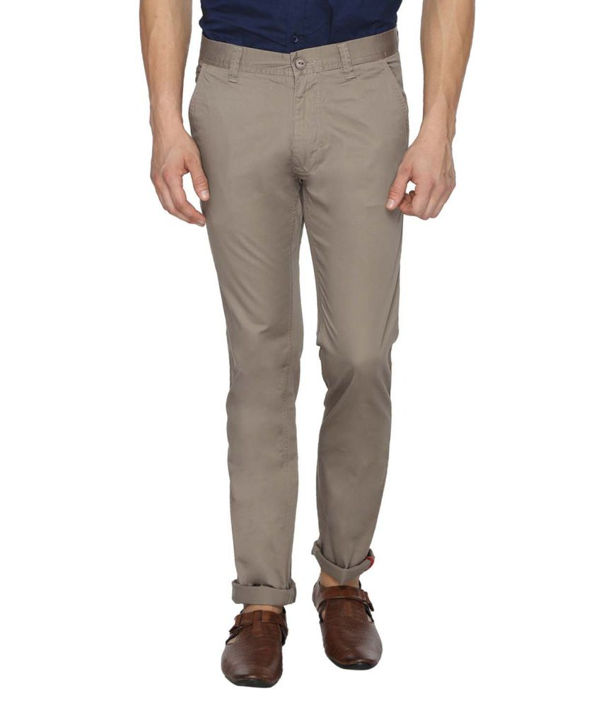 Derby Jeans Community Grey Slim Fit Casual Chinos