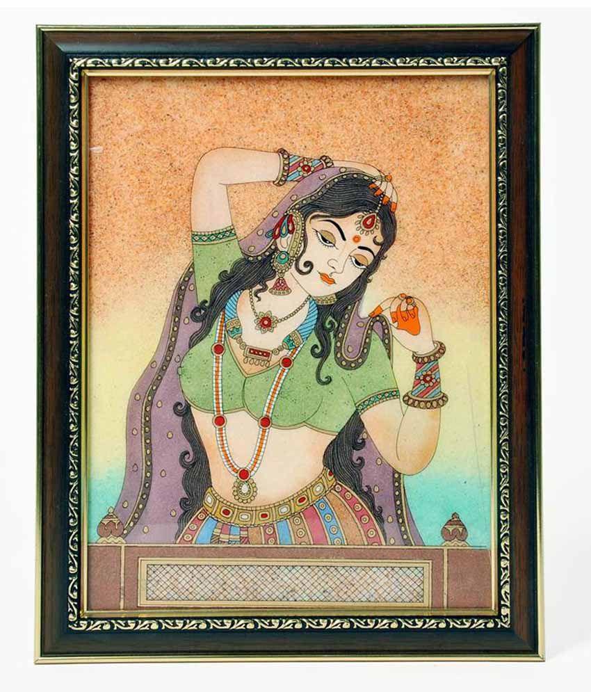 Shreemangalammart Bani Thani Gemstone Painting