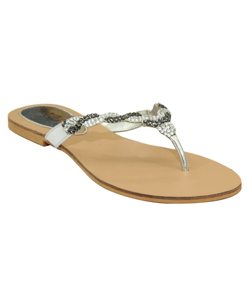 Liza Silver Flat Slip-on