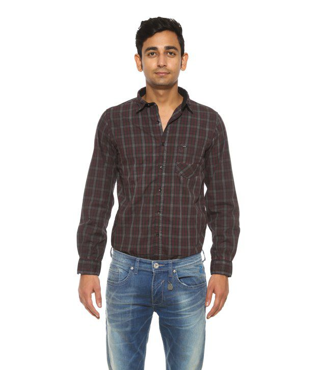 Pepe Jeans Brown Casual Shirt