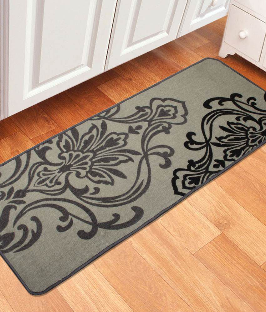 saral home black cotton floor mat buy saral home black cotton rh snapdeal com