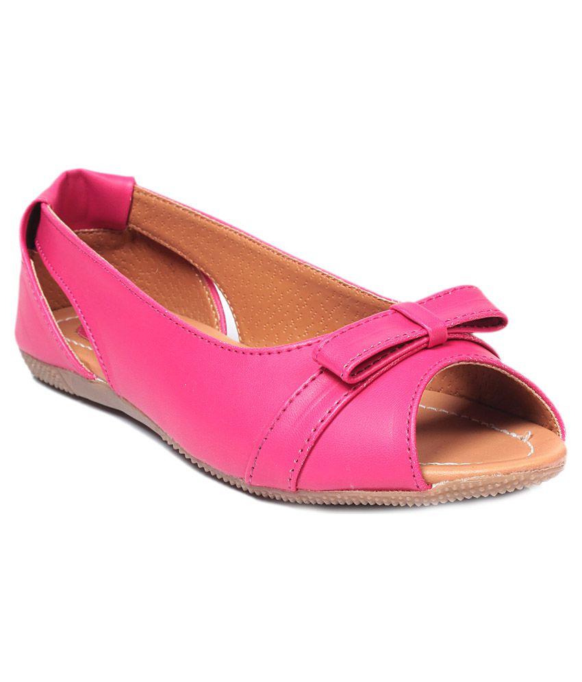 Bare Soles Pink Ballerinas