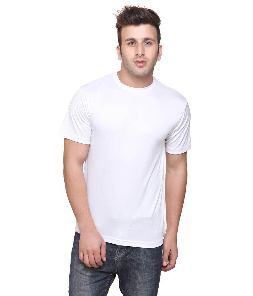 Funky Guys White Cotton Blend T-Shirt