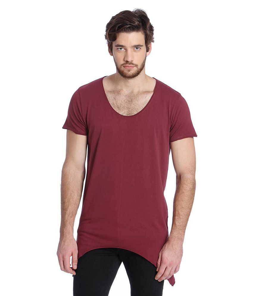 Jack & Jones Maroon Half Sleeves T-Shirt