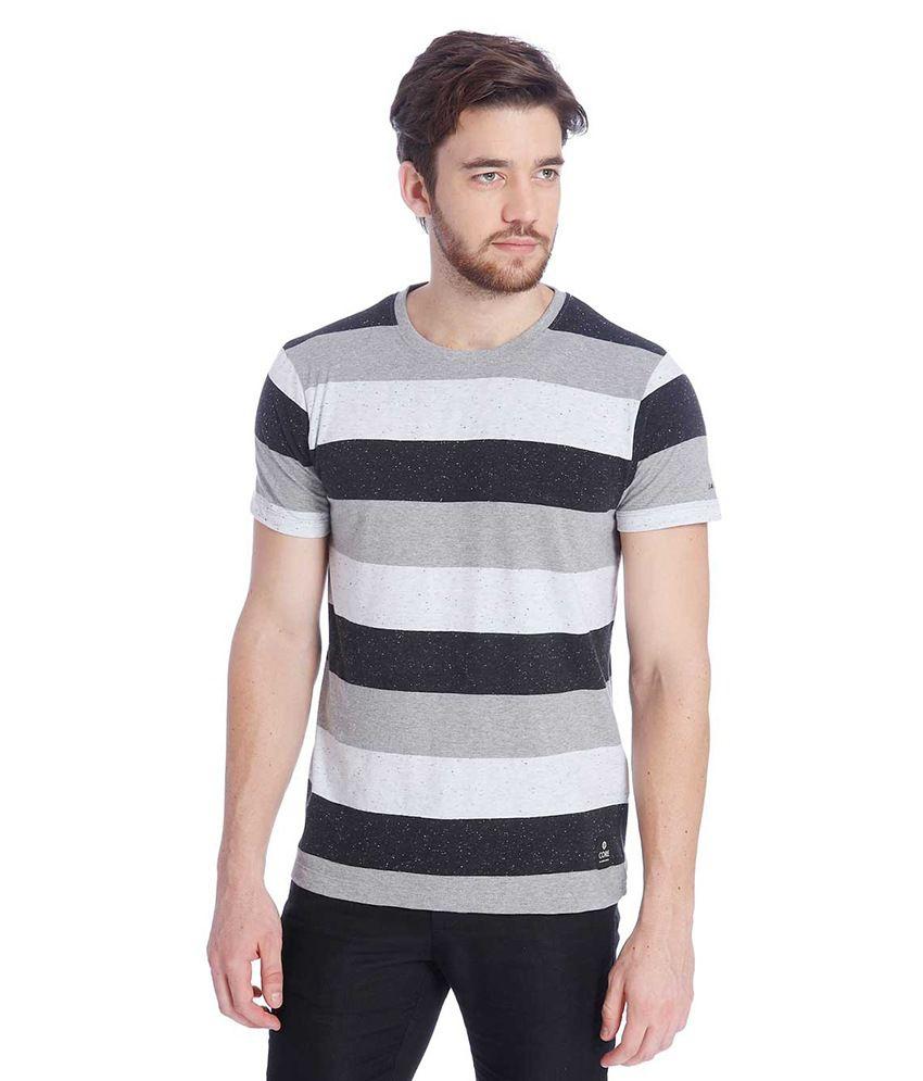 Jack & Jones Multi Colour Half Sleeves T-Shirt