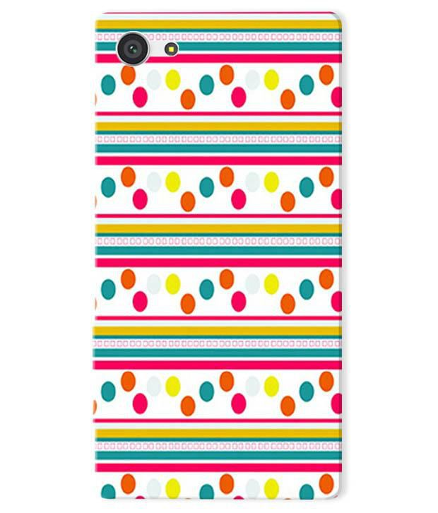 Kartuce Back Cover Case For Sony Xperia Z5 Compact With Screen Guard - Multicolor