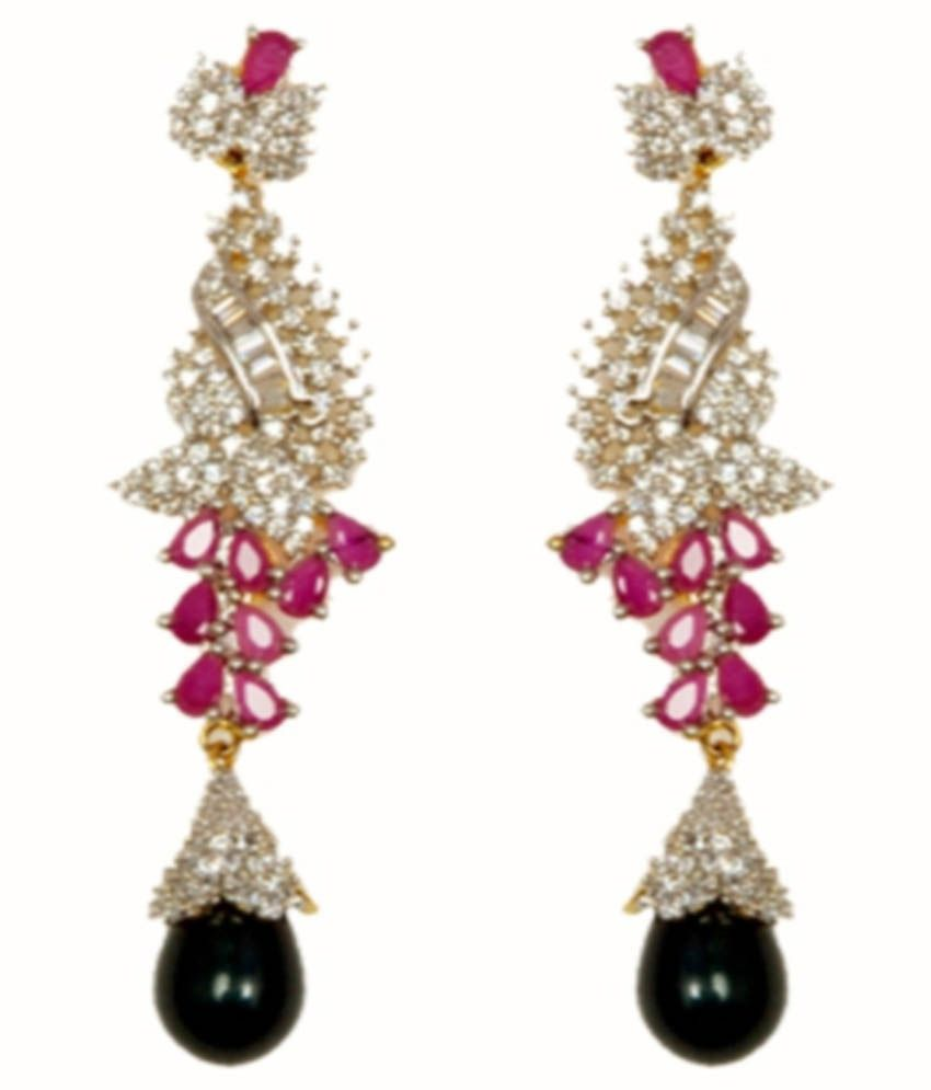 Shrungarika Multicolour Alloy Drop Earrings