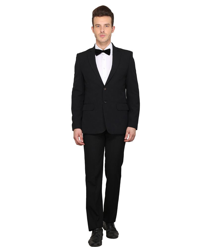 Envoy Black Polyester Suit