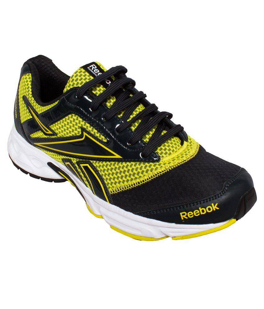 f668de87df7e23 Reebok Black   Yellow Sport Shoes - Buy Reebok Black   Yellow Sport Shoes  Online at Best Prices in India on Snapdeal