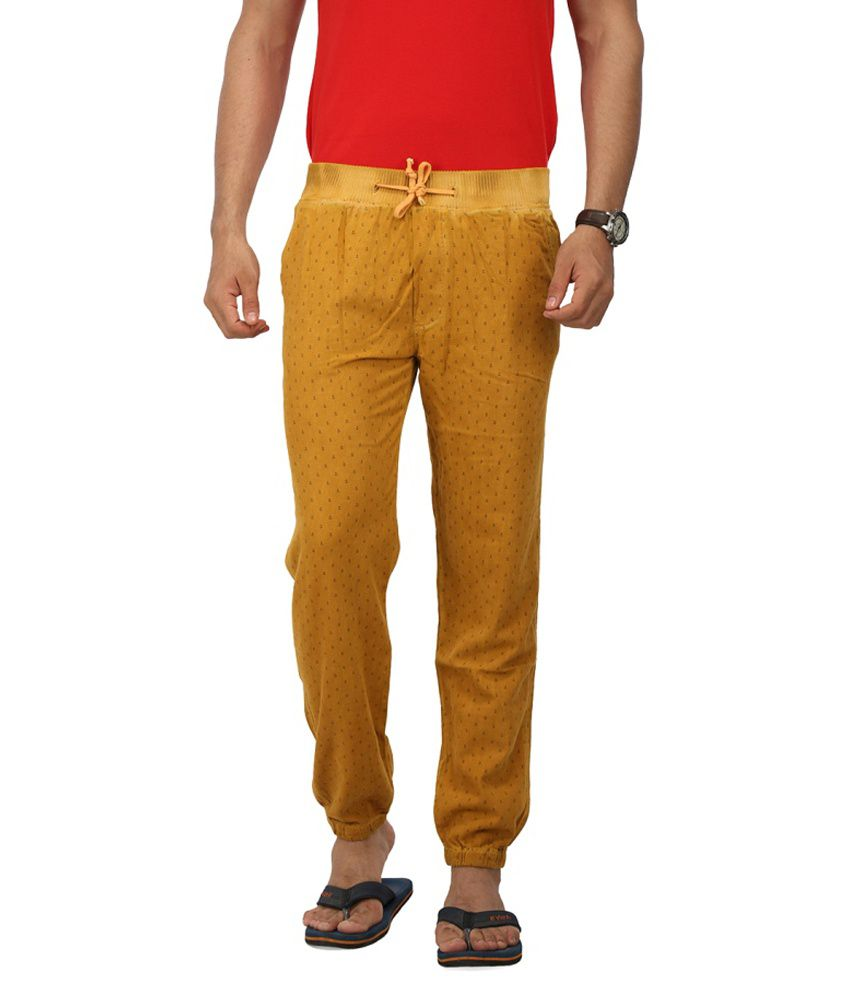 Wearyour Mind Maroon Slim Fit Formals Trousers