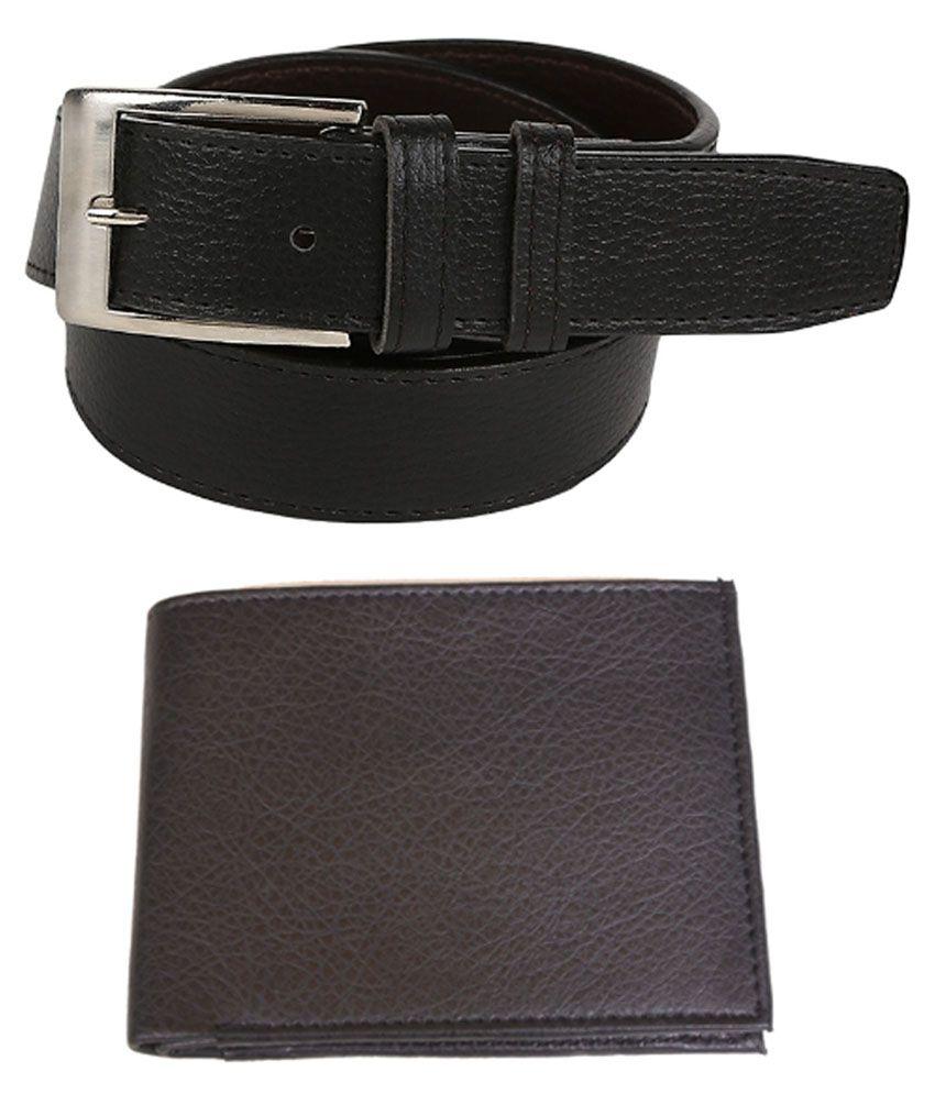 Daller Combo Of Black Belt & Wallet For Men