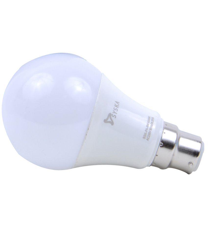 Syska 5W LED White Bulb