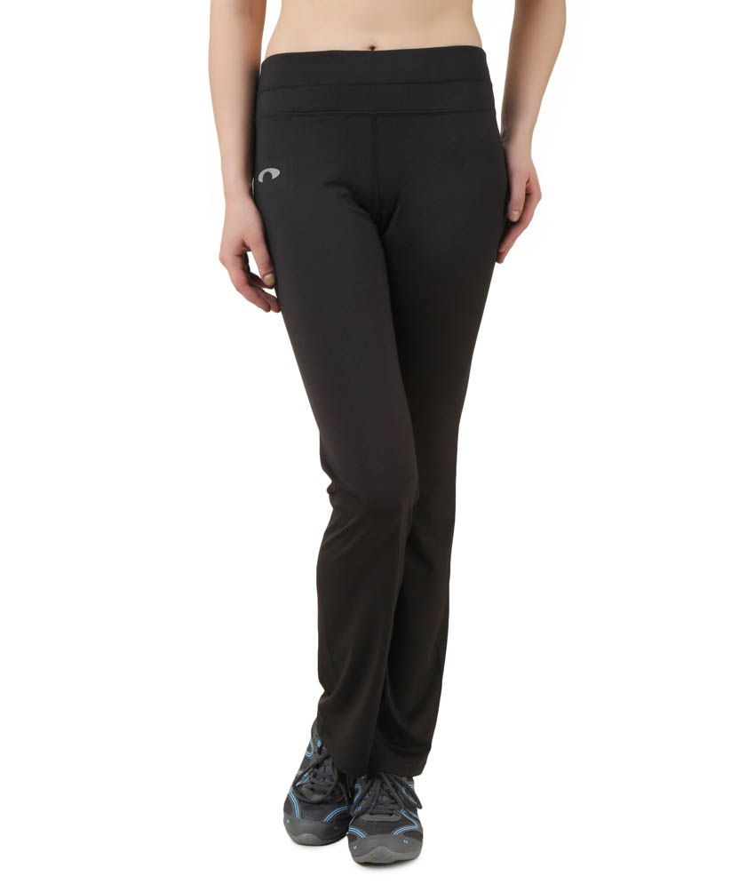 Arcley Black Polyester Trackpant
