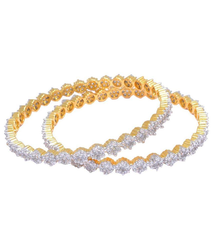 M Gold Golden Alloy Bangle Set